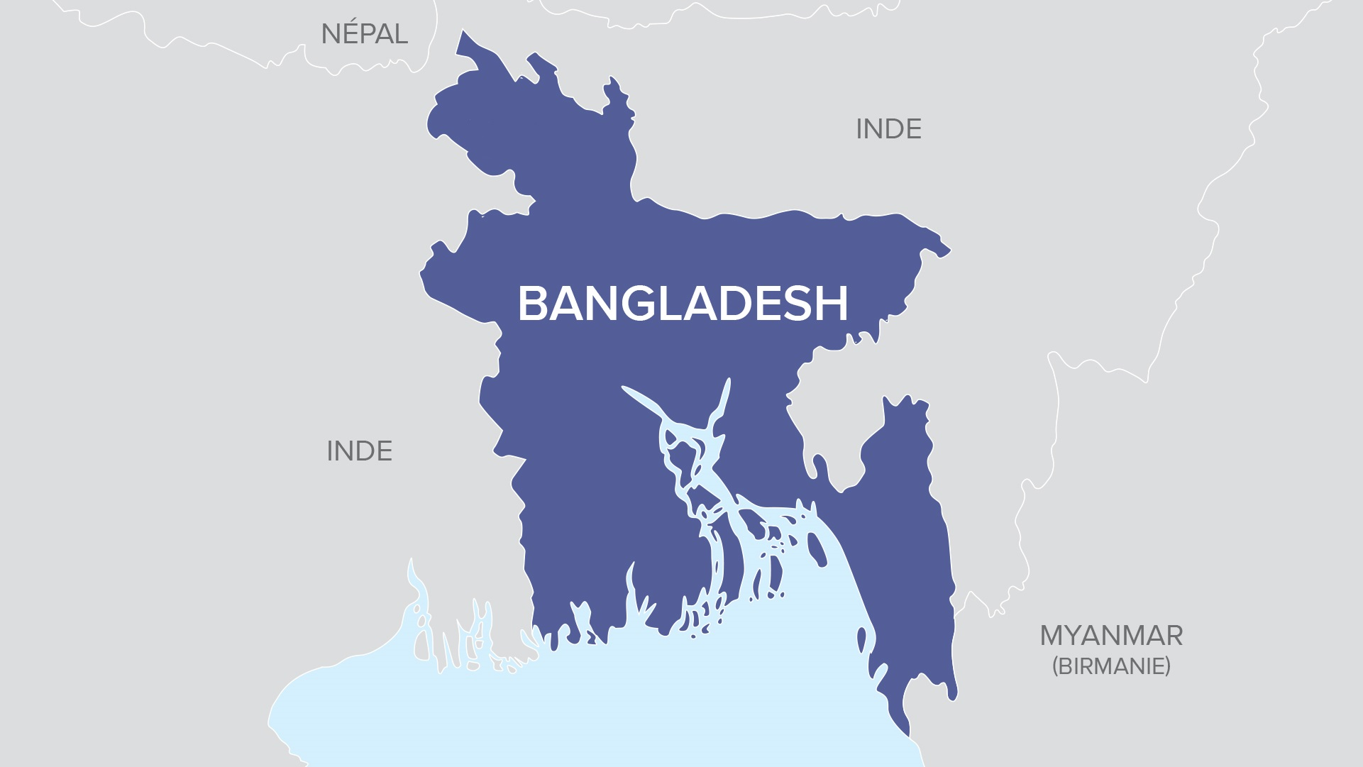 Carte de Bangladesh