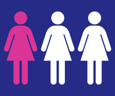Médecins Sans Frontières 1 in 3 women and girls graphic