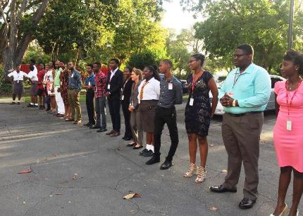 The winners were joined by members of Gender Champions and the Barbados Youth Parliamentarians.