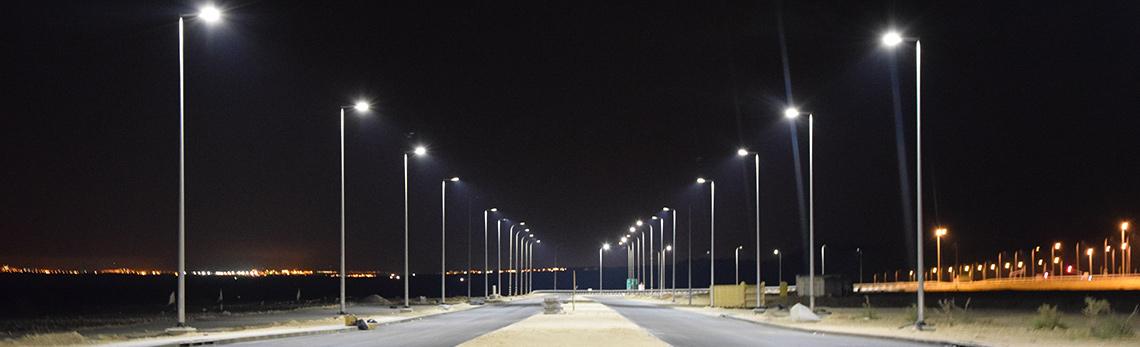 Roadway lights.