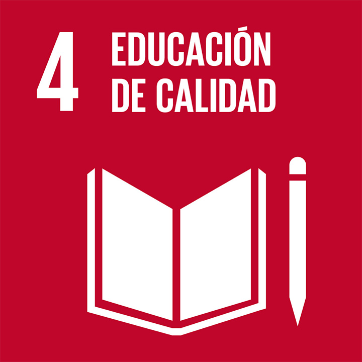 Logo: Quality education is the fourth of the United Nations' Sustainable Development Goals.