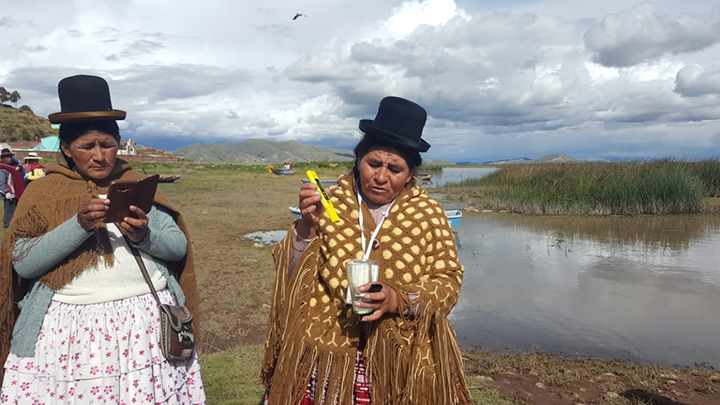Indigenous women test water samples to track contamination levels