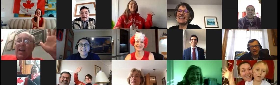Les célébrations de la fête du Canada au Chili ont inclus une réunion virtuelle pour tout le personnel.