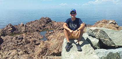 Mauricio Rico Quiroz passe du temps à Port Hood, sur l'île du Cap-Breton, en Nouvelle-Écosse.